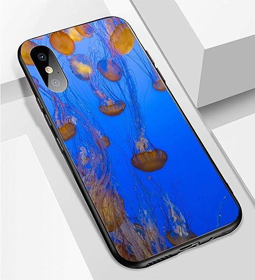 online store fca83 09f2f Amazon.com: iPhone X/XS Ultra-Thin Phone case Jellyfish Defying ...