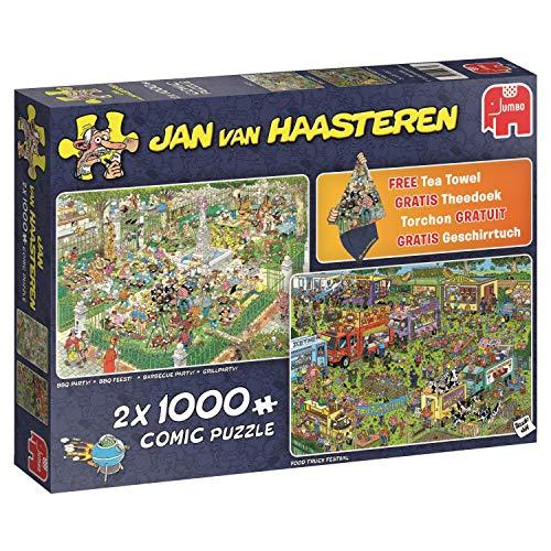 Jan Van Haasteren Food Festival 19079 - 2 x 1000 Piece Jigsaw Puzzles ()