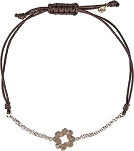 365Love Women's 18K Gold Diamond Bracelet, 1.11 g