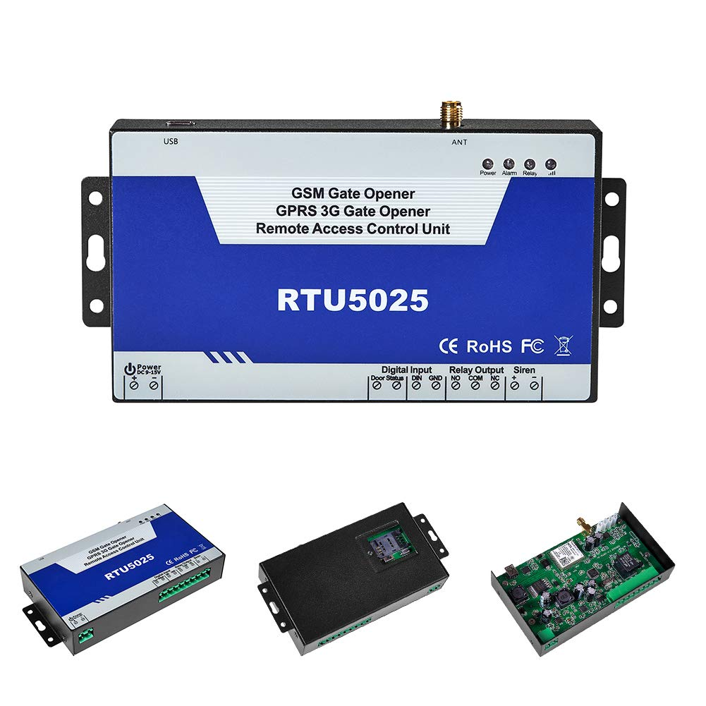 Ouvre-porte GSM‿3G avec interrupteur /à distance op/érateur SMS GSM RTU5025 Exp/éditeurs GPRS 3G Ouvre-portail avec commande de cadran GSM 3G par Mobile Phone Alarm