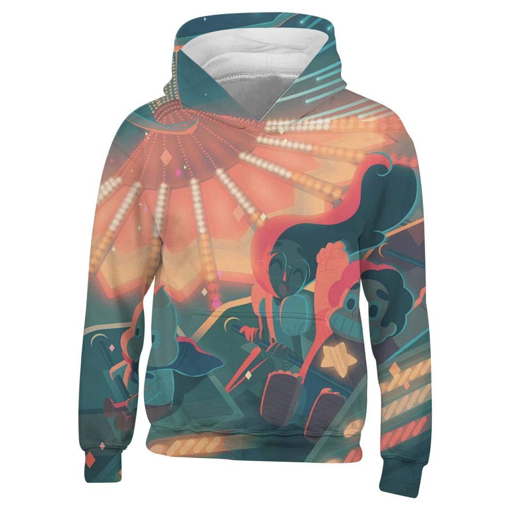 QINGLI Steven-Universe Pullover Hooded Childrens 3D Printed Sweatshirt Hoodie