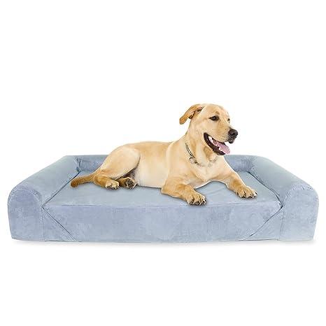 KOPEKS Sofa Cama para Perro Extra Grande Estilo Lounge Perros Mascotas X Grandes Gigantes con Memoria