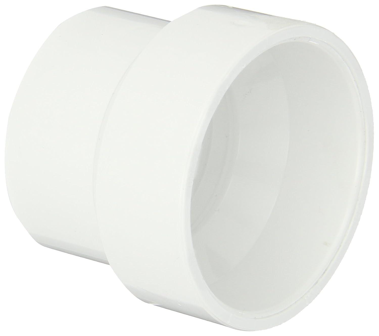 "Spears P102 Series PVC DWV Pipe Fitting, Reducing Coupling, 2"" x 1-1/2"" Hub"