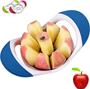 Apple Slicer, Apple Cutter 8 Slices for 4.2 inch Large Apple Corer, DSafer Fruit Slicer Kitchen Tool with Stainless Steel Sharp Blades, Dishwasher Safe and 100% Rust Resistant(Blue)