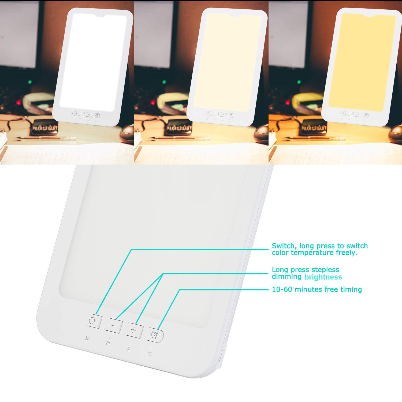 Aogled Tageslichtlampe 10000 Lux Natürliches Sonnenlicht LED Leuchtkasten Tragbar Kompakt Einstellbare Farbtemperatur,Helligkeit mit Timer,LED-Spektrum Anti Winterdepression, Schlafstörung