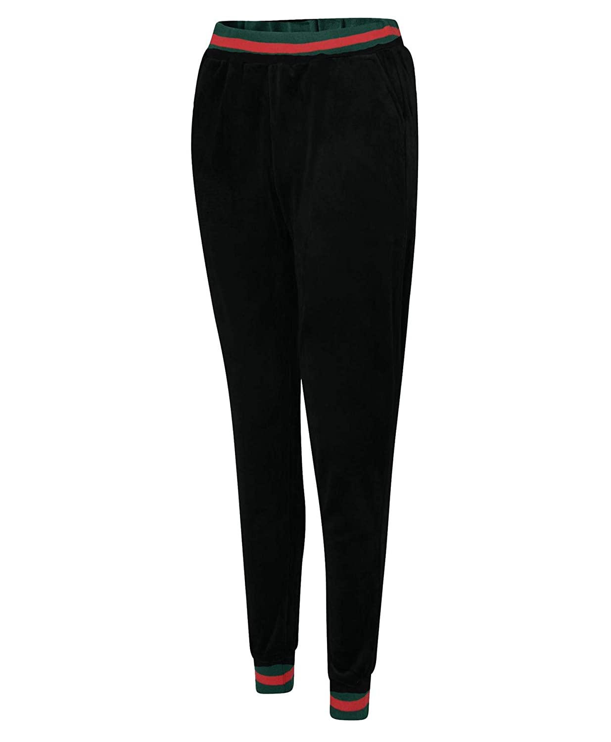 LotMart Women Full Length Tracksuit Trousers Contrast Inserts