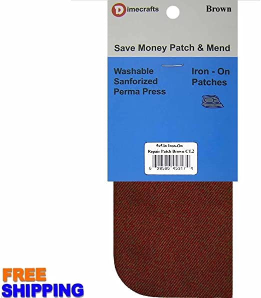 Burgundy Compare to Bondex 2 Pieces Iron-On Canvas Repair Patches 5 x 5 Inch