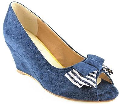 Laura Kent Schuhe Pumps High Heels Navy 2134
