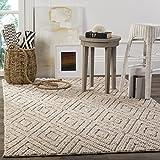 Safavieh NAT623B-8 Natura Collection Handmade Premium Wool & Cotton Area Rug, 8′ x 10′, Beige Review