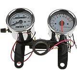 Generic Universal Motorcycle Tachometer Odometer Speedometer Gauge with Bracket