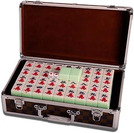 Mah Jong Baldosas Juegos Chino Mahjong Juego Juego Juego de Mesa Chino Tradicional Mahjong Entretenimiento Mejor Regalo for el Amante de Mahjong Verde (Color : Box, Size : 40#): Amazon.es: Hogar