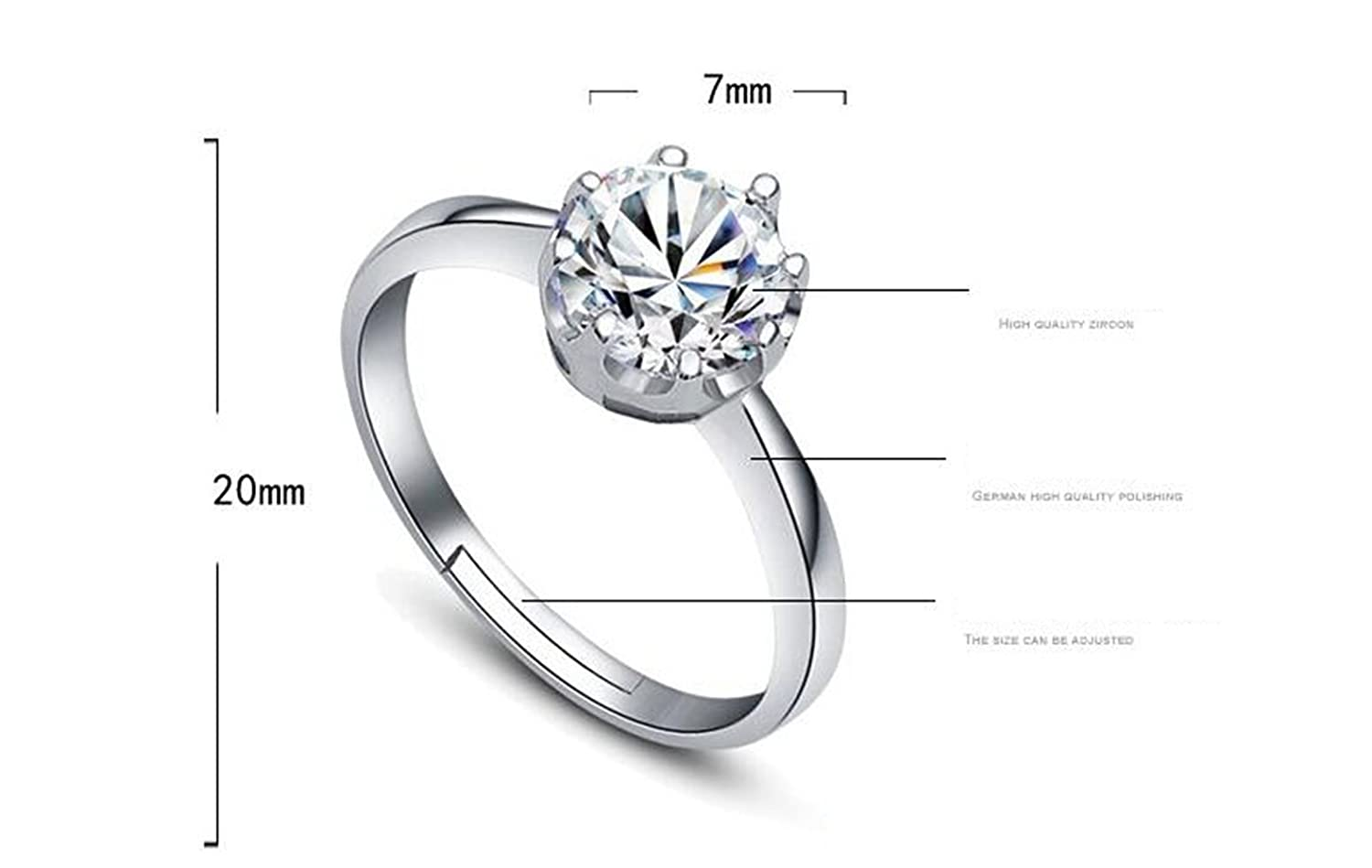 Amazon Women's Cubic Zirconia Anniversary Wedding Band Engagement Ring Sets 925 Sterling Silver Adjustable Jewelry: Thin Wedding Bands For Women Arthritis At Websimilar.org