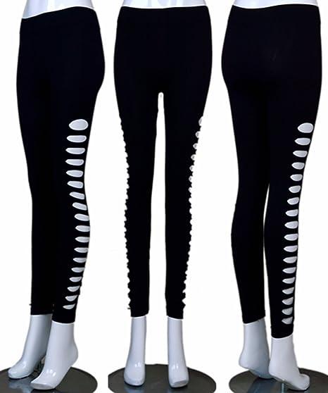 e116a4949e796 U-Shark Women's Candy Color Holes Tights Capri Leggings Pants for Yoga  Running Fitness Sports