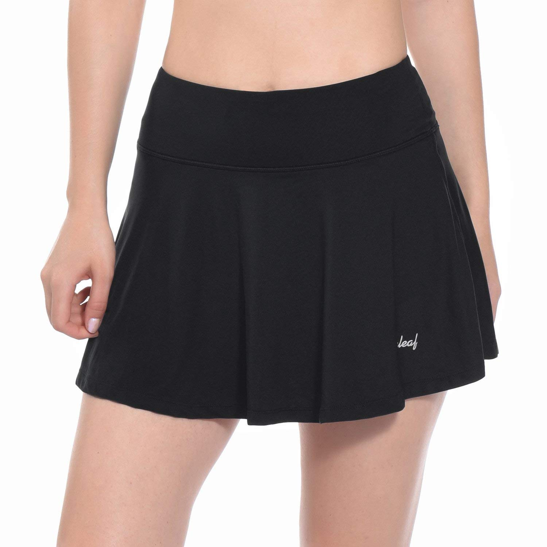 Baleaf Women's Athletic Golf Skirt Tennis Skort Pleated with Pockets Black Size XL by Baleaf