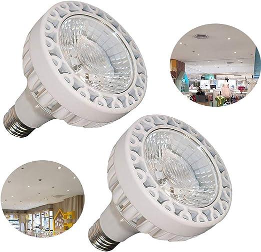 MYY E27 30W PAR30 COB LED Focos 5000K Blanco Frio Iluminación de La Pista para Casa Sala Pasillo Escalera [2Pack]: Amazon.es: Hogar
