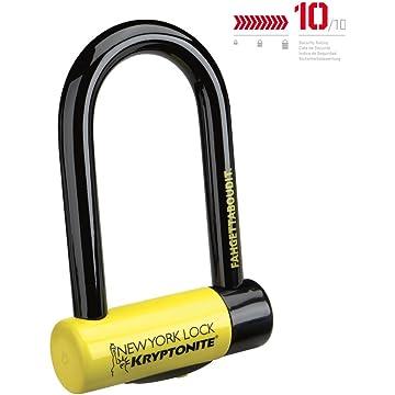 powerful Kryptonite New-U New York Fahgettaboudit Mini Heavy Duty Bicycle U Lock Bike Lock