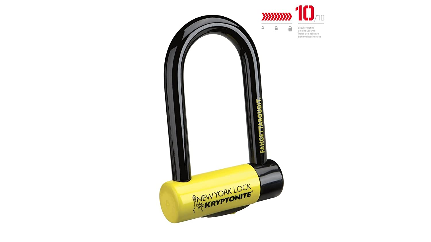 Kryptonite U-Locks, Catena New York Fahgettaboudit Unisex – Adulto, Giallo, Mini Catena New York Fahgettaboudit Unisex - Adulto 002178