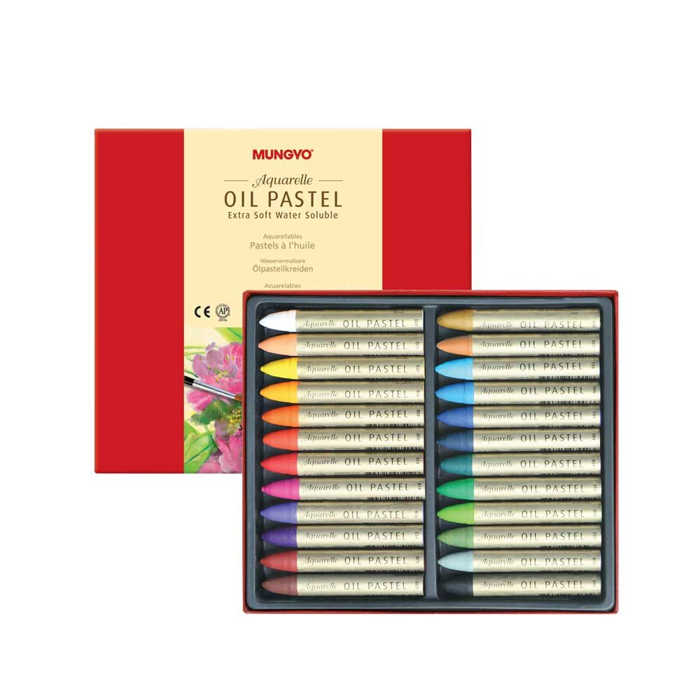 Mungyo Water-Soluble Oil Pastel Set of 24 - Assorted Colors