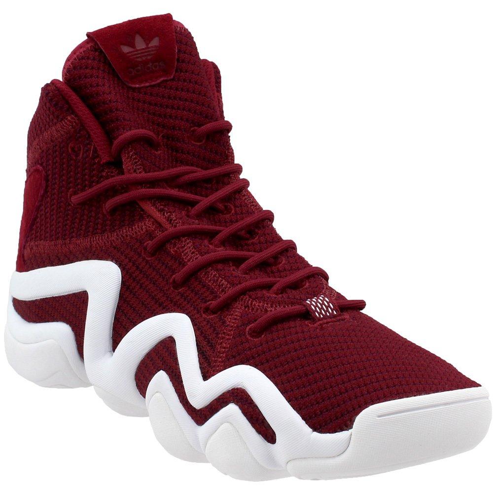 Adidas Mens Crazy 8 Sneakers Black/Solar Red/Solar Blue Q16935 B076SMYJFB 7.5 D(M) US|Core Burgundy / Footwear White