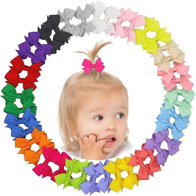 20X Handmade Bow Hair Clip Alligator Clips Girls Ribbon Kids Sides Accessories