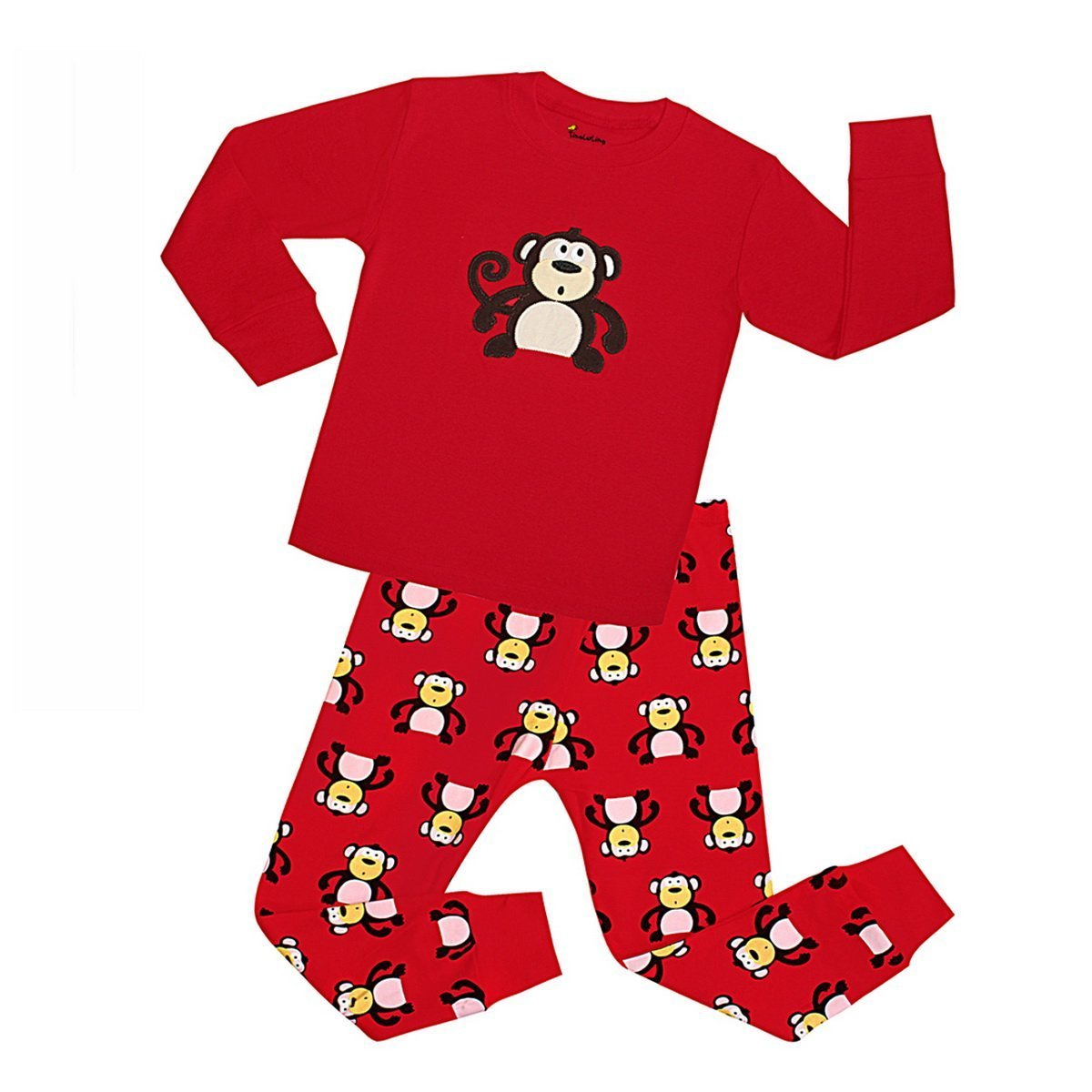 Fribro Little Boys Cartoon Pajamas Kids Long Sleeve Sleepwear Toddler PJS