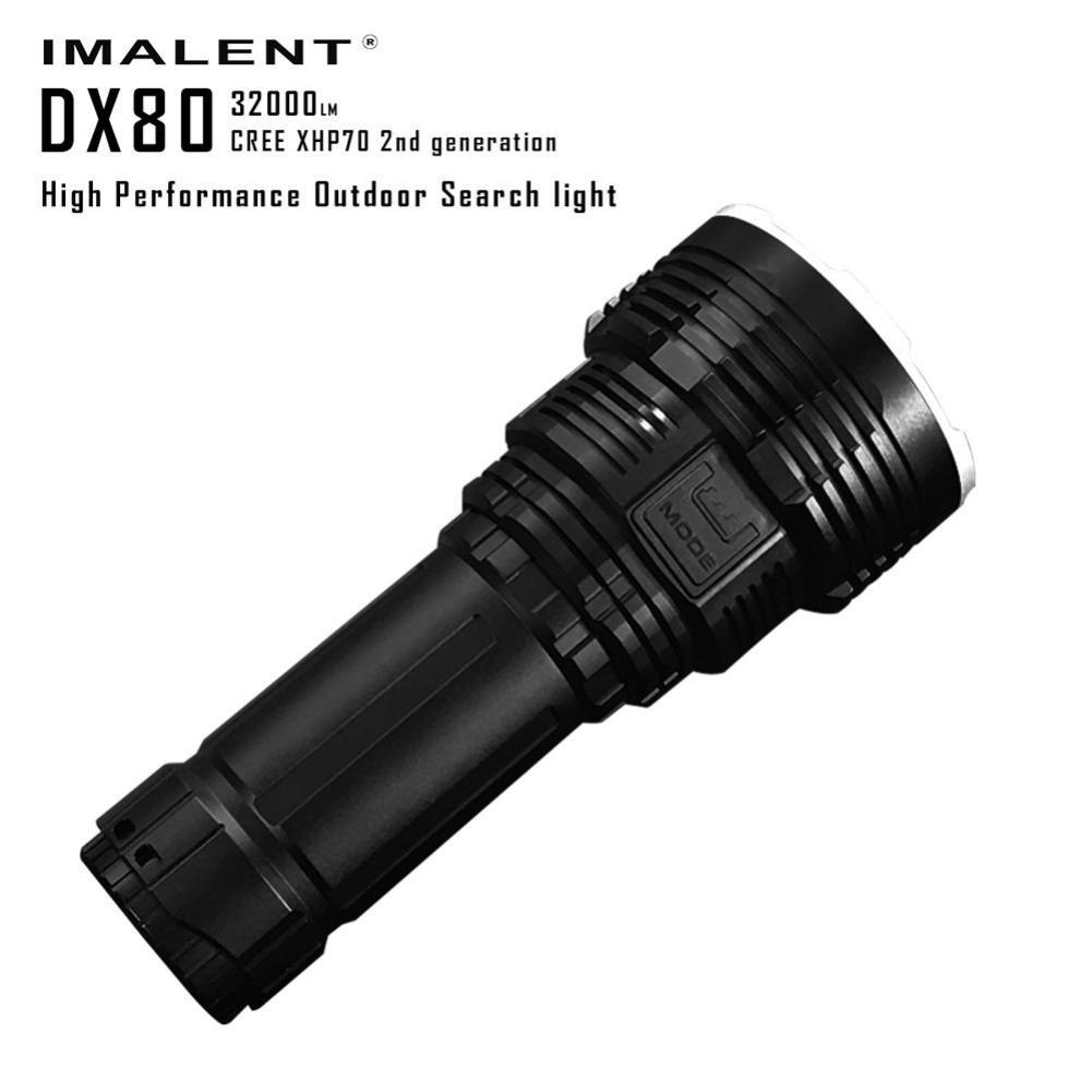 DX80 Cree XHP70 LED Flashlight 32000 Lumens 806 Meters USB Charging Interface Torch Flashlight