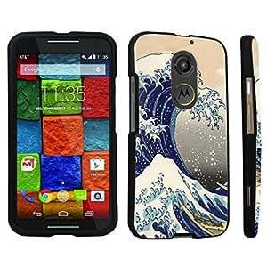 DuroCase ? Motorola Moto X 2nd Gen. 2014 Hard Case Black - (The Great Wave)