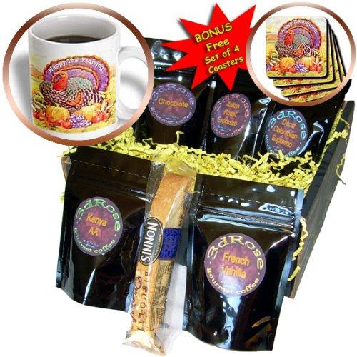 CDM product 3dRose Happy Thanksgiving Coffee Gift Basket Multi big image