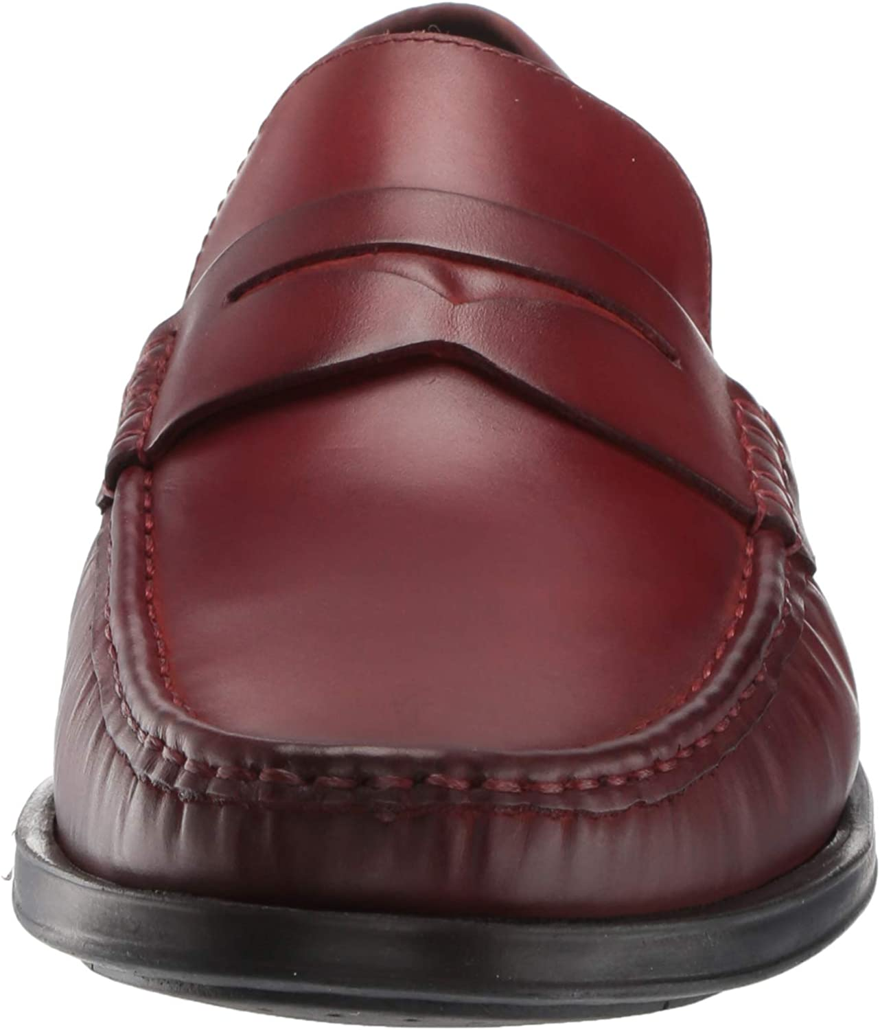 MARC JOSEPH NEW YORK Men's Leather Made in Brazil Cortlad Loafer Penny Red Brushed Nappa