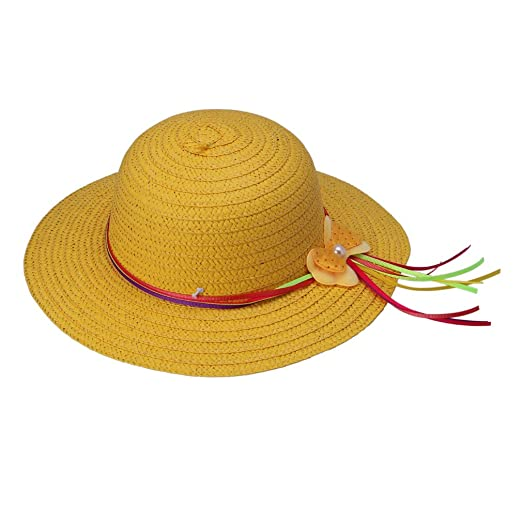 Amazon.com  Bigood Girls Summer Sun Beach Floppy Derby Hat Ribbon ... 535e8a836b1