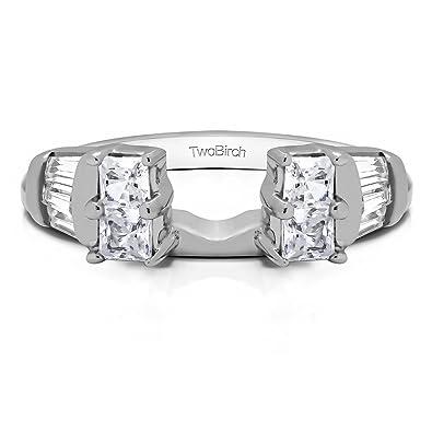 Amazon Com Diamond Anniversary Style Ring Enhancer Jacket In 14k
