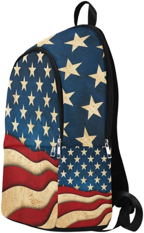 InterestPrint Carry-on Garment Bag Travel Bag Duffel Bag Weekend Bag Usa United States of America Flag