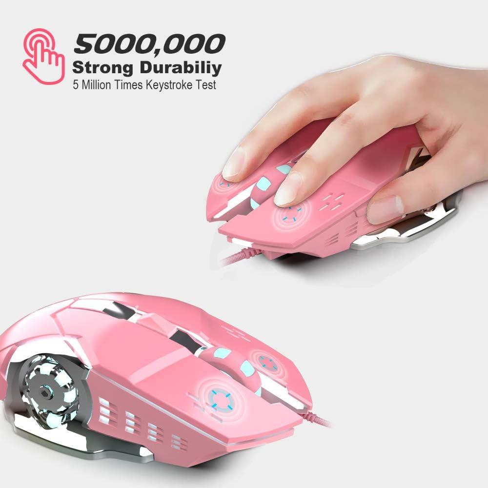 WANGOFUN Wired Gaming Mouse Comfortable Grip Ergonomic Optical PC ...