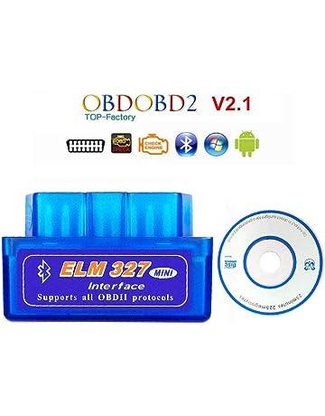 Sponsi Patrocinador Bluetooth Super Mini ELM327 V2.1 OBD2 25K80 Chip Herramienta De Diagnóstico De