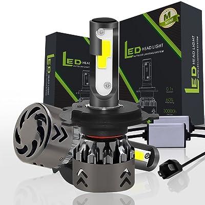 1 Paire Mini6-LED Phare H4 / 9003 / HB2 72 W Kit 8000LM 6000 K Haute Puissance Ampoule