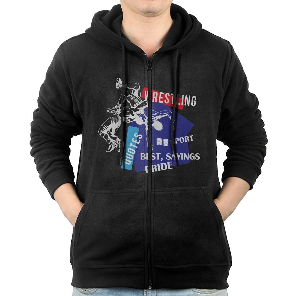 NHTRGB American Flag Wrestling Wrestling Gift Young Men Guys Lightweight Zipper First Quality Navy Hoodie