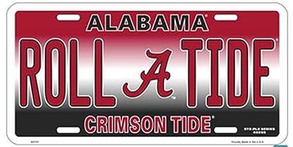 Alabama Car Tags >> Amazon Com Alabama Roll A Tide Crimson Tide Football Fan License