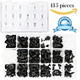 415 Pcs Push Retainer Clips Kit - 18 MOST Popular Sizes Auto Push Rivets Set - Plastic Car Clips & Fasteners Assortment For GM Ford Toyota Honda Chrysler