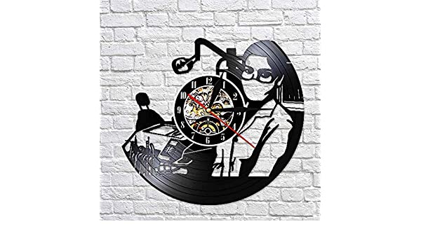 GVC Dentist Clinic Vinyl Record Clock Hanging Silent Watch Nurse ...