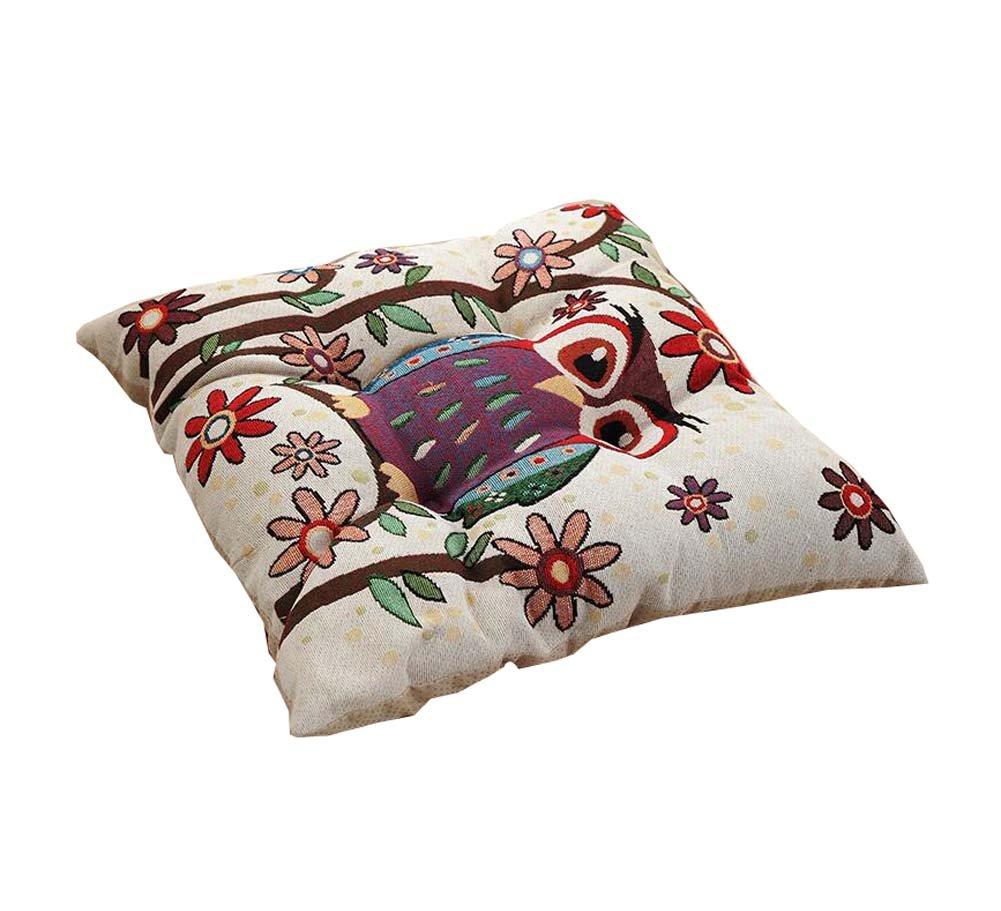 正方形綿椅子クッション厚みシートパッドクッションオフィス、ホームフクロウ – a4   B078RMLSY4
