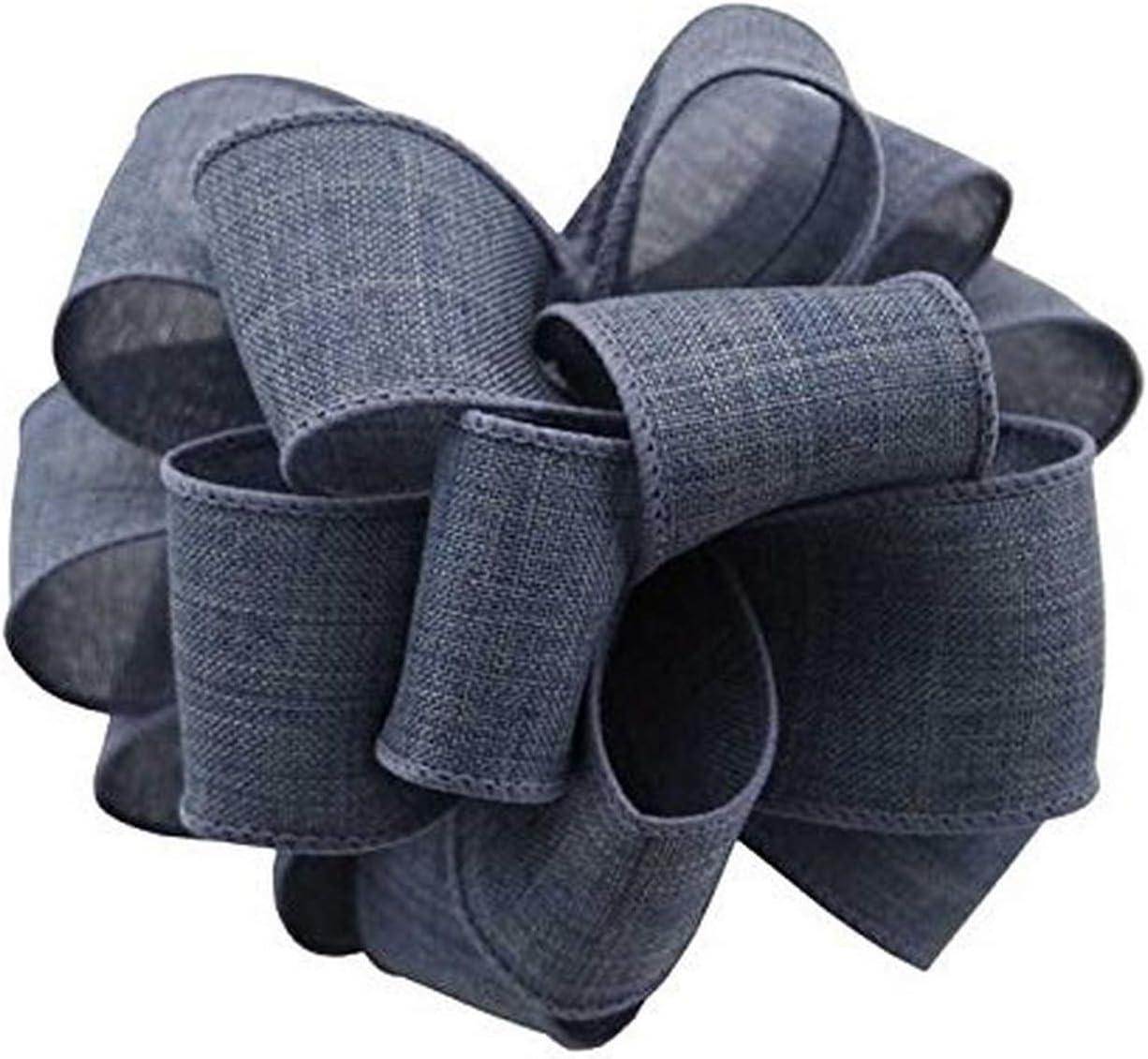 Brown Berwick Offray DWI Linen Wired Edge Ribbon-1-1//2 Wide X 50 Yards Ribbon