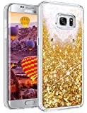 Coolden Galaxy S7 Edge Case, Samsung S7 Edge Shockproof Case Flowing Bling Shiny Glitter Sparkle Quicksand Liquid Crystal Clear Protective Case Cover for Samsung Galaxy S7 Edge Phone Case (Rose Gold)