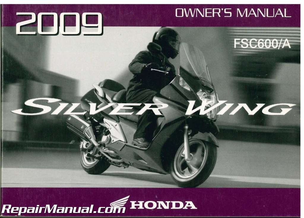 31mgf600 2009 honda fsc600 a silver wing scooter owners manual rh amazon com Honda Silver Wing Honda Scooters