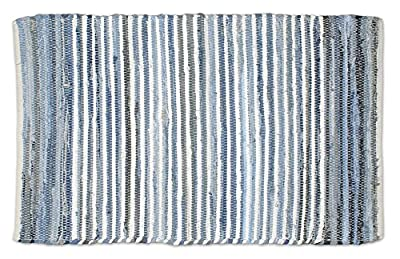 DII Home Essentials Rag Rug for Kitchen, Livingroom, Entry Way, Laundry Room, and Bedroom