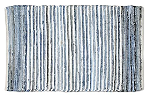 DII Contemporary Reversible One of A Kind Area Rug, Rag Rug For Bedroom, Living Room, Kitchen, 2 x 3' - (Cotton Area Rugs 2x3)