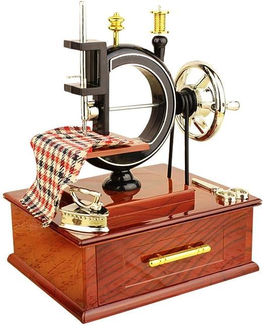 LDM Decoración de la casa Caja de música Vintage Mini diseño de ...