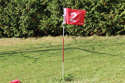A99 Golf Practice Hole Pole Cup Flag Stick Putting Green Flagstick - 2sets (Flag #2, Flag #3)
