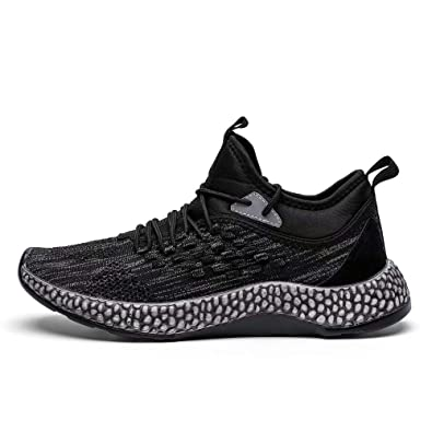 87685b44ac16d3 Fushiton Running Shoes Men - weight Mens Trainers Womens Tennis Shoe  Walking Air Sneakers Breathable Athletic