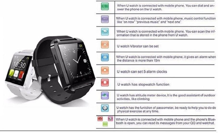 Smartwatch Bluetooth, SNT World U8 U Watch Smart Watch Fitness ...