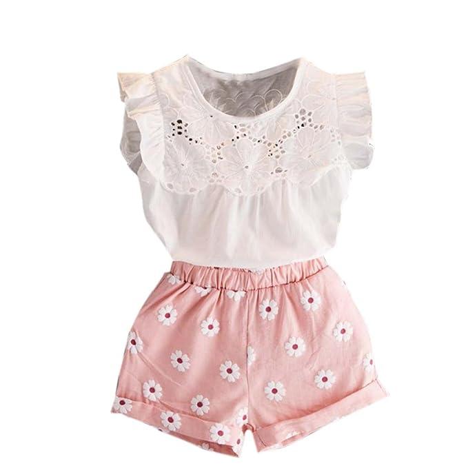 8a9ecbc4b Bestoppen baby outfits Conjunto - Para Bebé Niña Rosa Rosa  Amazon.es  Ropa  y accesorios